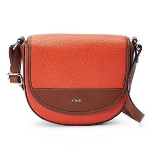 Chaps Wpmens Mariam Crossbody Saddle Bag NEW